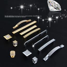 $enCountryForm.capitalKeyWord Australia - 24K Real Gold or Chrome Czech Crystal Drawer Cabinet Knobs Wardrobe Door Handle Furniture Knobs Pull Handles