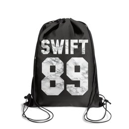 $enCountryForm.capitalKeyWord Australia - Sports backpack Taylor Swift 1989 White marble cool vintage Classicpackage adjustable limited edition Bundle school Travel Beach pull string