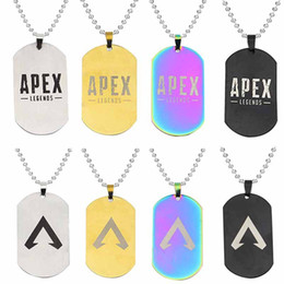 $enCountryForm.capitalKeyWord NZ - New Apex Legends Pendant Dog Tag Stainless Steel Necklaces Hot Game Fans Souvenirs Friends Kids Gifts Charm Fashion Jewelry WCW182