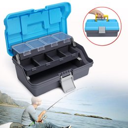 Tackle Fishing Lures Baits Box Australia - 30x18x15cm Portable Large Fishing Tackle Box Tool Storage Box Case with Handle Lures Storage Tray Bait Case Tool Organizer