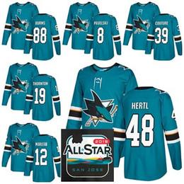 sharks jersey black 2019 - 2019 All Star Game 88 Brent Burns San Jose  Sharks Hockey a9ec62f47