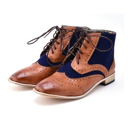Male style boots online shopping - Fashion Men Boots Vintage Style Casual Men Shoes Autumn Male Pu Leather Lace Up Warm Ankle Boots Fashion British Shoes P20