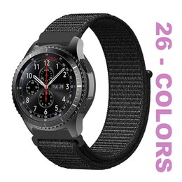 Milanese Loop For Gear Australia - Nylon Milanese Loop Band 38MM-40MM-42MM-44MM For Apple Watch 4 3 2 1 20MM-22MM Samsung Galaxy Watch 42MM-46MM Gear Sport S3 S2 Classic