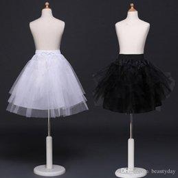 $enCountryForm.capitalKeyWord Australia - Black Children Petticoats Wedding Bride Accessories Half Slip Little Girls Crinoline White Long Flower Girl Formal Dress Under skirt