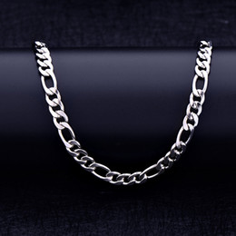 Figaro Chains Australia - 6mm Titanium Steel Gold Plated Figaro Chain Necklace Steel Steel Link Chain Jewelry Accessories for Men Women