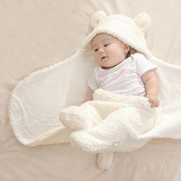 $enCountryForm.capitalKeyWord Australia - Baby Sleeping Bag for Winter Kids Newborn Stroller Soft Baby Blanket Autumn Warm Velvet Cuddle Children Swaddle Wrap 2018