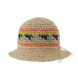 $enCountryForm.capitalKeyWord Australia - DeePom Sun Hat Ladies Summer Hats For Women Colorful Straw Hat Bucket Beach Panama Cap Vacation Holiday Travel Bohemia Style