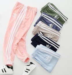 Air Pants Australia - New summer children's fashion casual pants boy mosquito pants girls air pants sports lightweight soft brand AD pant 3-11 year baby #31204
