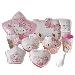 Tableware Pink Colour Series Cathead Spoon Bowl High-end Tableware Katie Cat Melamine Promotion on Sale