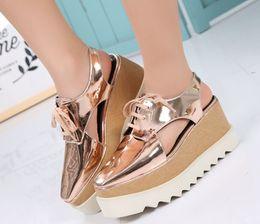 Discount platform cutout wedge - Stella Elyse Cutout Platform Oxford Platform Shoes Lace-Up Wedge Leather Wedge Heel Square Toe Women's Sandals Shoe