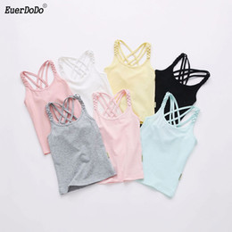 $enCountryForm.capitalKeyWord Australia - 2019 Girls T-shirt Colored Tops For Kids Cotton Children Underwear Teenager Undershirt Girl Camisole Baby Singlet Clothing