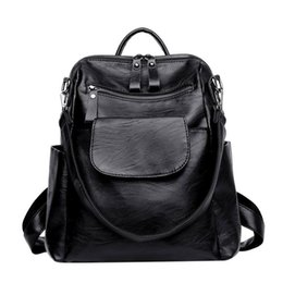 be2d2c9eacc5 New Women Backpack Pu Leather Ladies Rucksack Shoulder Bag For Travel  School Bags Backpack Female Backpacks For Girls Teenagers