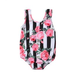 kid girls one piece swimwear Australia - Children's Beach Costume New Toddler Kids Baby Girls Flower Bikini Set One Piece Swimwear Bodysuit Swimsuit Bathing Beachwear