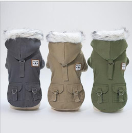 free beds NZ - free shipping Wholesales Pet dog cat cat clothes explosion models 2020 autumn and winter new military coat
