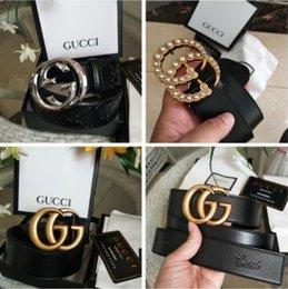 Cinture donne designer uomini Brass cinture di lusso fibbia della cintura cinture in pelle commercialiGGSJeans vita della cinghia con la scatola in Offerta