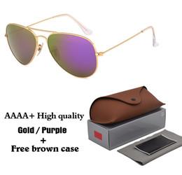 $enCountryForm.capitalKeyWord NZ - 18 colors High quality Brand Designer Fashion Mirror Pilot Sunglasses Men Women UV400 Glass lens Vintage Sport Sun glasses With box and case