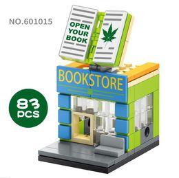 Block Stores Australia - Mini World Little Shop Series Street View Building Mini blocks 58PCS Puzzle Toys Book Store Gifts for Kids