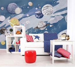Photos Cartoons Australia - Newest 3d Universe star Wall Photo Mural for Kids Room Kindergarten 8d wall Mural Cartoon abstract Wallpaper Mural Decor