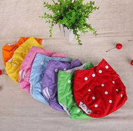 Wholesale Reusable baby diapers washable grid cotton diaper training pants diaper baby Fraldas winter summer diapers version