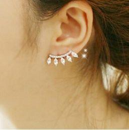 Jackets Studs Australia - Eyewinker Earring Jacket for Women Gold Tone Eyelash Water Drop Stud Ear Jacket for Girls Simple Jewelry
