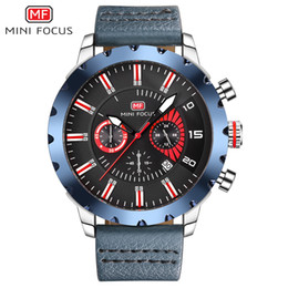 Wholesale MINIFOCUS Deluxe Mens Leather Band Utility Watch Sport Big Dial Watches Military Waterproof Japan Movement Quartz Watch for Male MF0079G