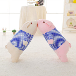 Cute Stuffed Animal Pig Australia - 20170724 Kawaii Pig Plush Toy Stuffed Soft Animal Doll for Kids Baby Lying Pig with Clothes Plush Pillow Cute Children's Gift