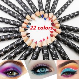 eye liner white pencil NZ - 1PC Glitter Colourful Pearl Pigment Eye Shadow Liner Pencil Matte Waterproof Lip Liner Long Lasting Eye Cosmetics Makeup Tools