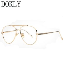 classic eyewear Australia - Dokly Myopia glasses frame clear sunglasses women glasses Classic Male Eyewear Gafas Retro sun Men