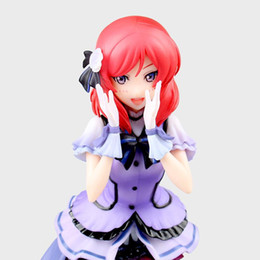 japanese love toys UK - 22cm Love Live Maki Nishikino Action Figure Toys Collection Christmas Gift With Box Pvc Model Collection Japanese Anime