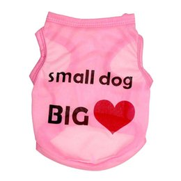 Easter Vest Australia - XU0318 2019 Howholesale cheap pet dog cat clothes small dog big love vest thin Full polyester pink crown letter vest wholesale Teddy clothes
