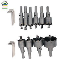 carbide alloy drill bit Australia - set truck 10pcs Tungsten Carbide Steel Tipped Drill Bit TCT Metal Cutter Hole Saw Metal Drilling Set 16 18 20 22 25