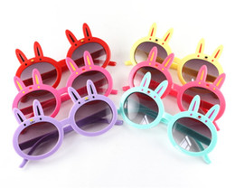 Discount rabbit sunglasses New Cute Rabbit Kids Sunglasses Little Rabbit Frame Baby Sun Glasses Children Eyeglasses UV400 6 Colors Cheap Wholesale