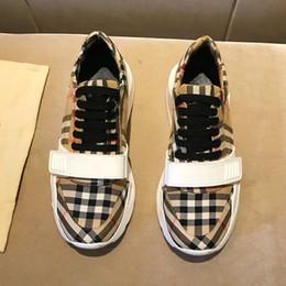 drop shipping shoes 2019 - Retro Men Shoes Sneakers Casual Breathable Comfortable Fashion Tenis Trainers Soft Zapatos de hombre Vintage Check Cotto