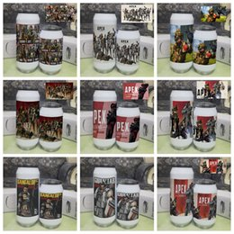 Mug Cup Print Australia - Apex Legends pop Can Mug Cup 500ml 350ml Water Bottle Stainless Steel Outdoor Vacuum Insulated Thermos Tumblers Cup AAA1943
