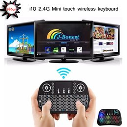 $enCountryForm.capitalKeyWord NZ - Mini keyboard i10 2.4G touchpad wireless keyboard fly mouse Colorful lights touchpad backlight silence keyboard for TV Set-Top Gaming PC