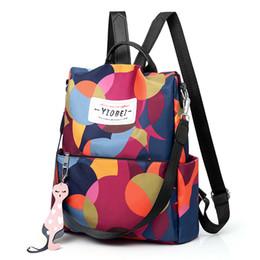 Discount korean style female backpack - Fashion Backpack Women Oxford Multifuction Bagpack Leisure Back Pack Korean Ladies Knapsack Female Travelbags for School