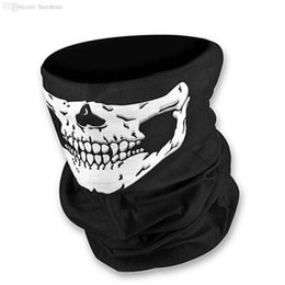 $enCountryForm.capitalKeyWord NZ - Wholesale-2016 Motorcycle SKULL Ghost Face Windproof Mask Outdoor Sports Warm Ski Caps Bicyle Bike Balaclavas Scarf