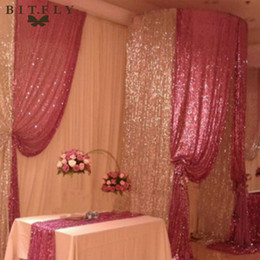 Fabric Decorations For Parties Australia - High Quality150cm X 300cm Sparkly Sequin Embroidered Fabric Paillette Soft Netting Background Drop For Wedding Banquet Party Decoration