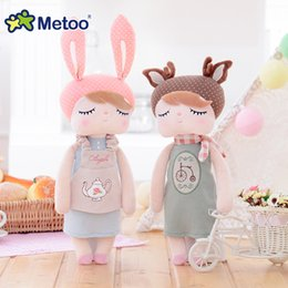 $enCountryForm.capitalKeyWord Australia - Newest Retro Angela Kawaii Stuffed Plush Toys For Children Kids Girls Soft Rabbit Dolls Delicate Companion Gift 100% Metoo MX190801