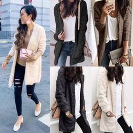 Ladies Jackets Sweaters Australia - HIRIGIN Women Cardigan Fur Jacket Outerwear Winter Warm Sweater Fluffy Coat Plus Size Slim Lady Clothes