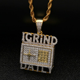 $enCountryForm.capitalKeyWord Australia - 2019 New Fashion Gold Plated Cubic Zirconia Mens The Safe Igrind Daily Necklace Designer Personalized Hip Hop Rapper Jewelry Gifts for Boyss