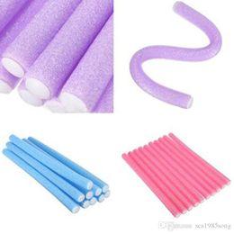 $enCountryForm.capitalKeyWord Australia - Fast Shipping Wholesale 80pcs Lot Curler Makers Soft Foam Bendy Twist Curls Diy Styling Hair Rollers Tool For Women Accessories