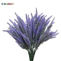 $enCountryForm.capitalKeyWord Australia - 25 Heads Bouquet Romantic Provence Artificial Flower Purple Lavender Bouquet with Green Leaves for Home Party Decorations D19011101