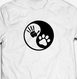 $enCountryForm.capitalKeyWord Australia - RETRO ANIMAL PETS FRIENDS PAW PRINT YIN-YANG 100% cotton Mens T-shirt Tee
