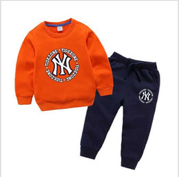 Brand Clothes Kids Dress Australia - hot Baby Boys And Girls Suit Brand Tracksuits 2 Kids Clothing Set Hot Sell Fashion Spring Autumn Children's Dresses Long Sleeve T2168