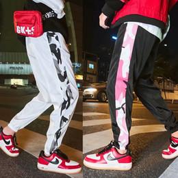Cool Men Black Pants Australia - 2019 Cool Casual Mens Pencil Pants Patchwork Soft Hip Hop Hogger Sweatpants Male High Streetwear Black White Plus Size Pants
