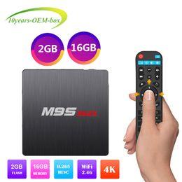 Pc Android Tv Media Player Australia - 1 PCS Original M9S MAX 2GB 16GB Android 7.1 TV Box Amlogic S905W Support IPTV HDMI Streaming Media Player Better H96 Mini Plus X96 TX3