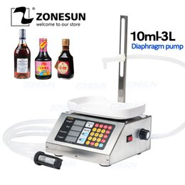 ZONESUN 10-3000ml Small Automatic CNC Liquid Filling Machine 110V-220V Perfume Weighing Filling Machine Milk Drink Filler from tdp 1.5 manufacturers