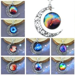 $enCountryForm.capitalKeyWord Australia - Necklaces Pendant Elements Fashion Korean Jewelry Cheap New Vintage Starry Moon Outer Space Universe Gemstone Pendant Necklaces