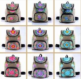 $enCountryForm.capitalKeyWord Australia - Florals Embroidery Fashion Backpack Women Bags Back Packs Bag Embroidered Backpacks Ladies rucksack bag